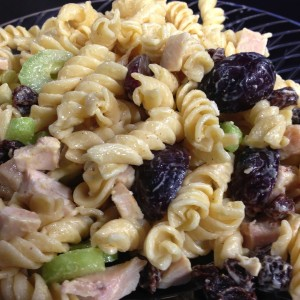 Curried turkey pasta salad