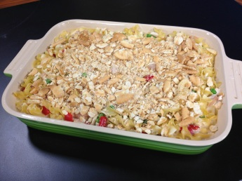 Hot turkey casserole